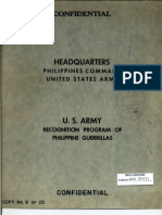 The Recognition of Philippine Guerrillas by the U.S. Army