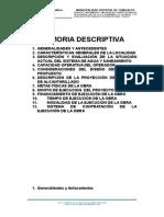 Memoria Descriptiva Chingalpo Final
