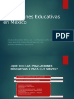 Evaluaciones Educativas en Mexico
