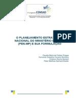 057 o Planejamento Estratégico Nacional Do Ministério Público Pen Mp e Sua Formulação