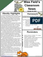 oct 30 jungle newsletter