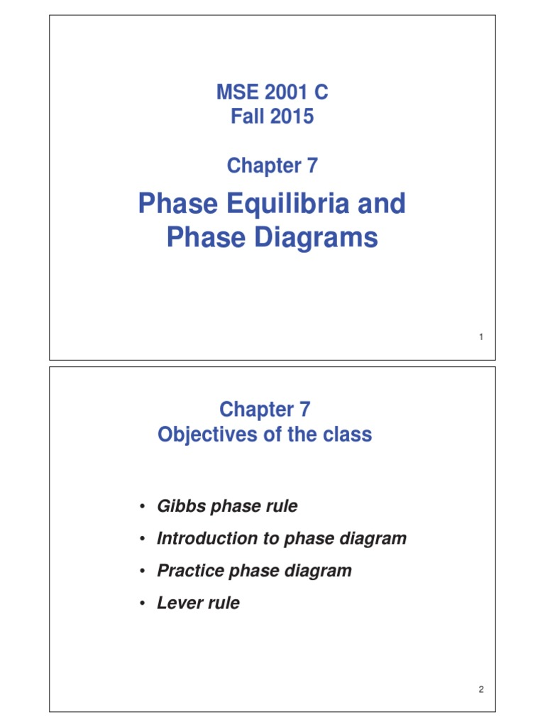 Chapter7 phase equilibria and diagrams part 1 phase rule chapter7 phase equilibria and diagrams part 1 phase rule phase matter pooptronica