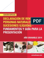 Cartilla Renta Año Gravable 2014