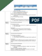 stage 2 - media advertising unit plan