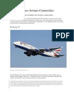 Los 10 Mejores Aviones Comerciales