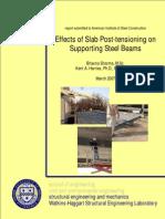 Harries - Slab Post-Tensioning Effects on Beams