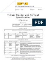 Timber Sleeper and Turnout Specification