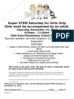 Super STEM Saturday for Girls Only