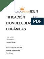 Identificación de Biomoleculas Orgánicas