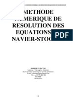 Methode Numerique de Resolution Des Equations de Navier-stokes