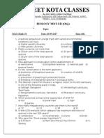 20sep Biology Test 12th