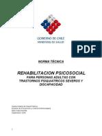 Norma Tecnica Rehabilitacion Psicosocial