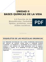 2.2 Función de Las Biomoléculas