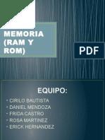 Memoria (Ram y Rom)