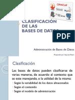 Clasificación de Las Bases de Datos