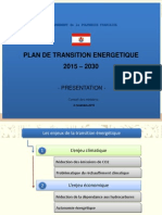 Powerpoint Plan de Transition Energetique 2015-2030