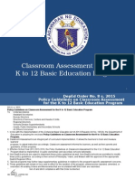 Assessment in the K to 12 BEP (National)