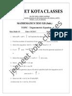 Trigonometric Equation 1 Aug 2015