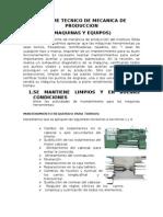 Informe Tecnico de Mecanica de Produccion