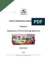 Food & Beverage Operations Information