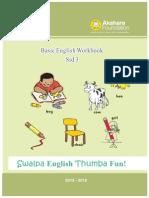 Set 3 - English Workbook Std 3