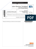 Isa Immegration Ticket