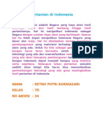 Pertanian Di Indonesia Masa Depan