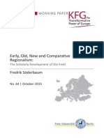 Early, Old, New and Comparative Regionalism