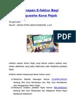 Penerapan E-FAKTUR Bagi PKP