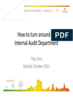 2.1 How to Turn Around an Internal Audit Department. Thijs Smit