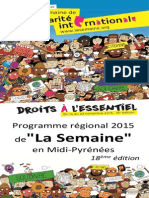 Le programme de la Semaine de la solidarité internationale 2015