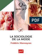 Sociologie de La Mode - Monneyron Frederix