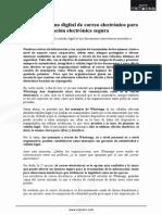 Cifrado y Firma Digital de Correo Electrónico Para Una Comunicación Electrónica Segura