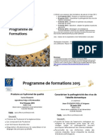 Programme Formations Adam 2015