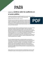 Luces y sombras sobre las auditorías en el sector público