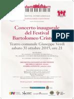 Concerto Festival Bartolomeo Cristofori