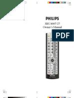 Phillips SRU3003WM/17 Remote Control Manual