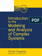 Introduction to the Modeling and Analysis