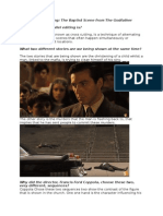 parallel editing- the godfather