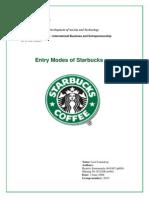 Starbucks' international Strategy