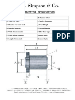 Commutator Data Sheet