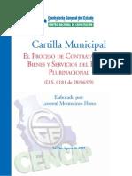 Cartilla Municipal EL PROCESO DE CONTRATACIÓN DE BIENES Y SERVICIOS DEL ESTADO PLURINACIONAL