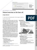 Postural Exercises on the Foam Roll