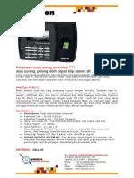 Brosur Fingerprint X100C