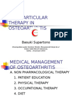 Intra Articular Therapy in Osteoarthritis