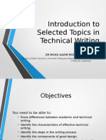 Introduction to Technical Writing