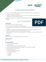 APCER Certificacao Qualificacao Auditores Internos Qualidade ISO9001-2015