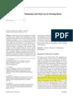 Pneumonia and Nursing Homes