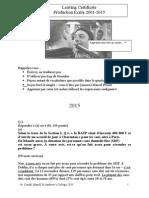 production ecrite 2001-2015