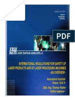 International Regulations for Safety of Laser Products and of Laser Processing Machines - An Overview